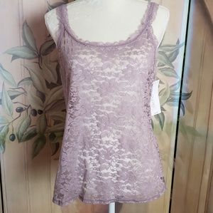 Lace Cami ~ Silver Lilac ~ XL ~NWT